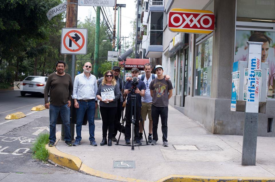 El equipo listo para rodar el teaser - México