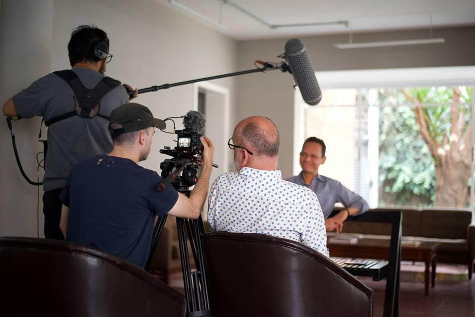 Grabando el teaser en la casa de Buñuel - México